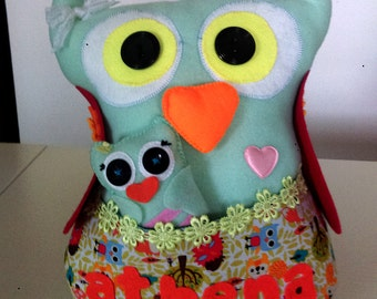 Owl pillow + small owl 300 kn