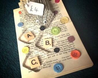 ABC button hedgehog paper folding