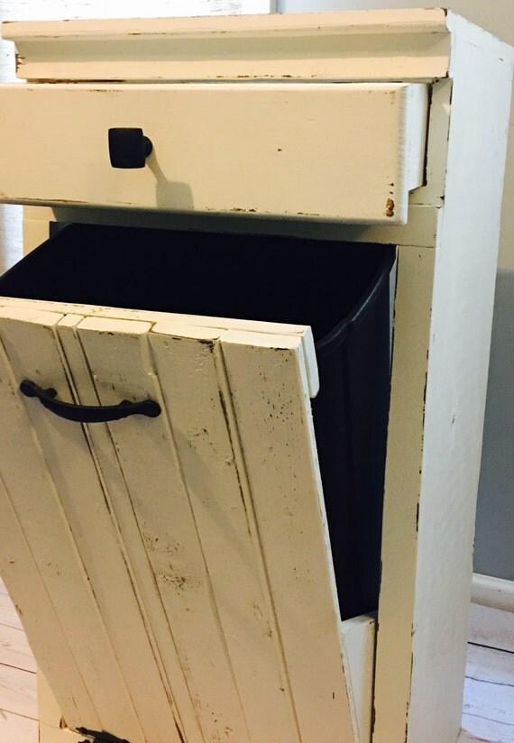 Tilt Out Trash Bin Trash Bin With Drawer Wooden By