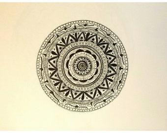 Hand drawn pen & ink drawing by Sarah Strausbaugh