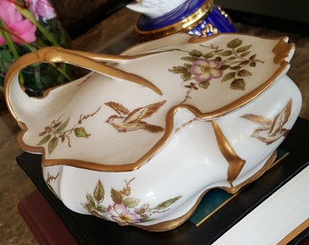 Rare Vintage Ardalt Lenwile China Hand Painted Candy Dish/Trinket Box/with Handled Lid #7045 Home Decor ACATz
