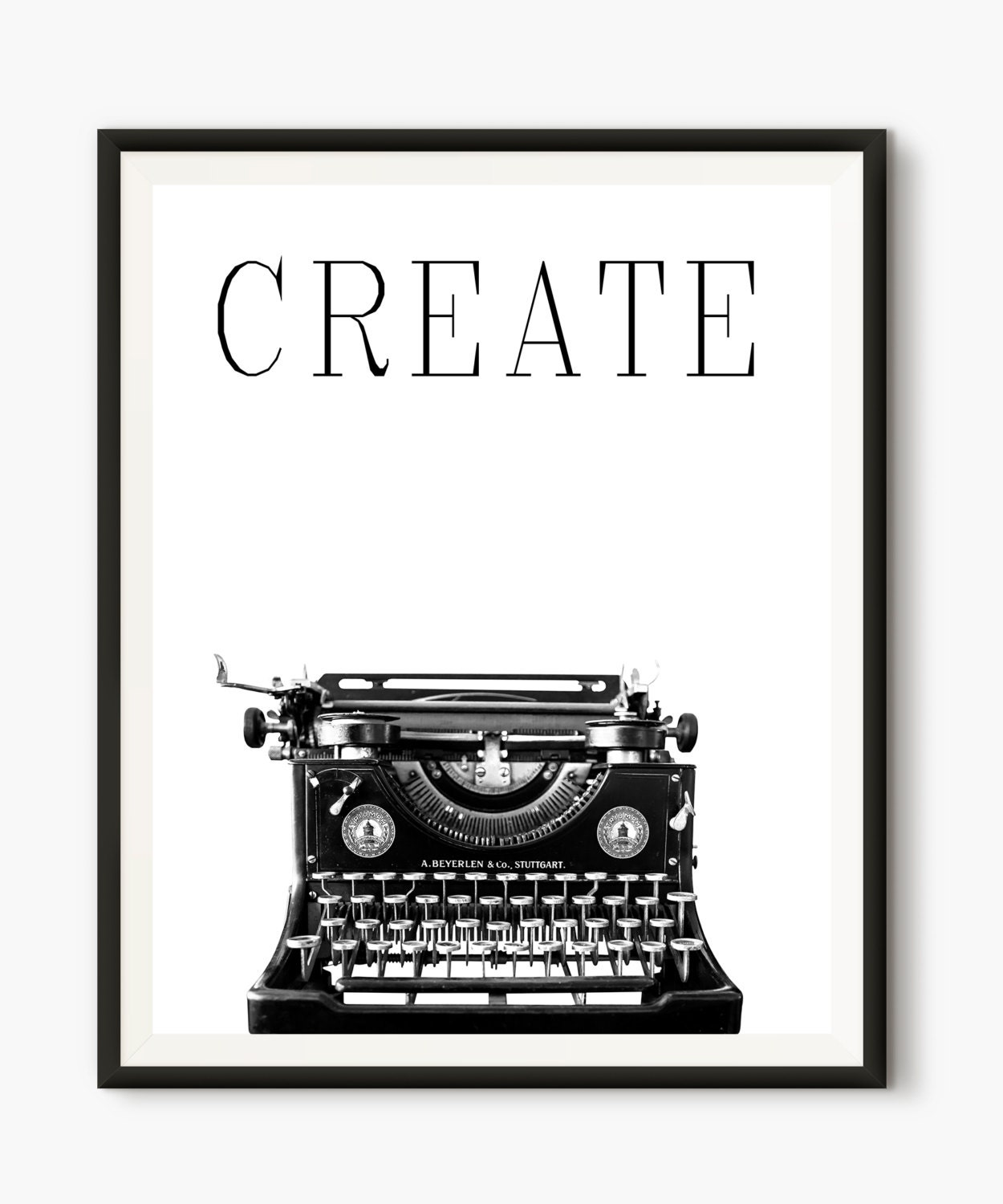 Typewriter Poster Typewriter Photo Create Words Modern