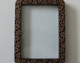 henna design photo frame 7 x 5 inches