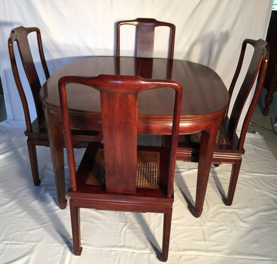 Henredon Dining Room Furniture: Vintage Henredon Dining Table And Chairs Asian Flair Dining