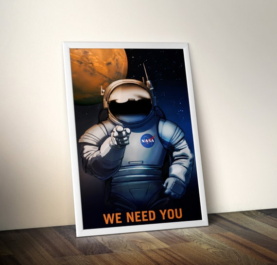 NASA Recruitment We Need You Mars Canvas Poster Print Space