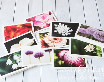 Flower photo card gift set - 10 5x7 blank cards