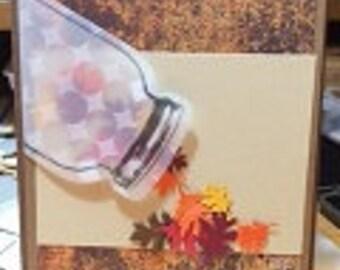 Mason Jar Fall Card