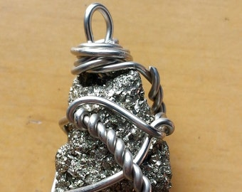 Hand-wrapped Pyrite Nugget (Fool's Gold)
