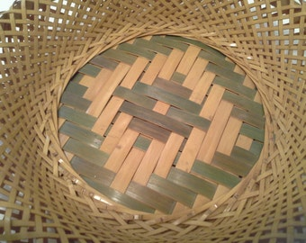 Hand made woven basket