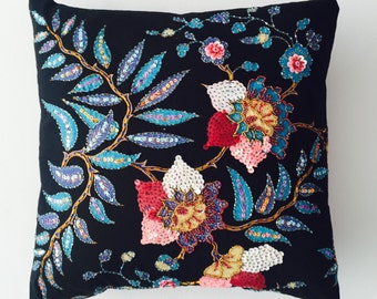Decorative cushion cover, flower pillow cover