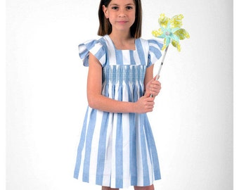 Blue Stripes Smock dress