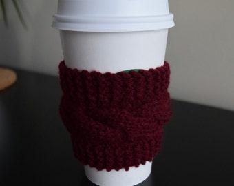 Knit Coffee Cozy