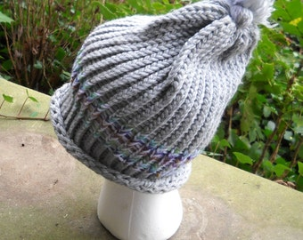 Slouchy Gray Hat 0005