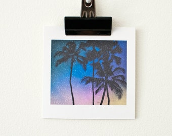 BLANK GREETING CARDS // Palm Trees, Sunset, Hawaii, Photo Cards, Birthday Card, Blank Greeting Card, Love, Thank You, Congratulations