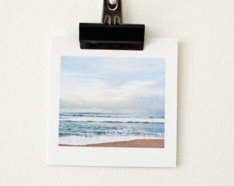 BLANK GREETING CARD // Beach Photo, Sunrise, Ocean, Waves, Photo Cards, Birthday Card, Blank Greeting Card, Love, Thank You, Congratulations