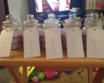 Cinnamon scented home made candles