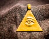 All seeing eye,Illuminati, Cooper pendant, All Seeing Eye Necklace