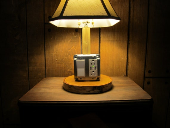Rustic Industrial Lamp With A 40 Watt Led Bulb And Has 2