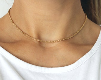 Gold Rope Choker - delicate