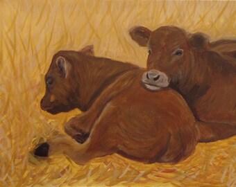 Cows in Autumn (print 5x7)