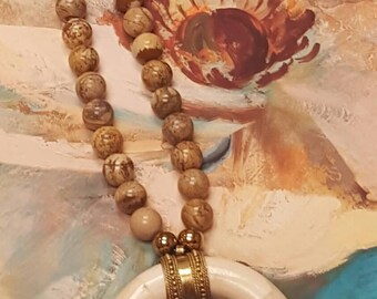 Bone Horn Necklace