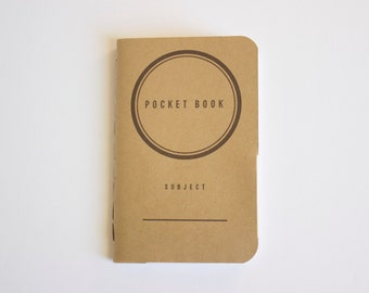 Pocket Book, Memo book, Journal, Notebook