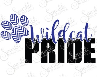 Wildcat Pride Cut File Wildcat svg Wildcat Mascot Mascot svg High School Clipart Svg Dxf Eps Png Silhouette Cricut Cut File Commercial Use