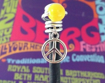 Dread - and hair jewelry ~ peace