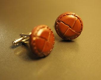 Handmade Leather Cufflinks