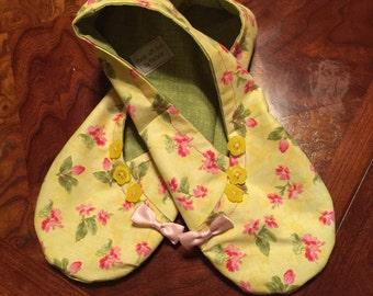 Cotton kimono slippers