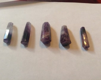 Amethyst terminated wands