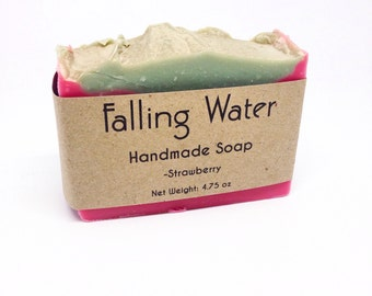 Stawberry Falling Water Soap Company, Handmade Soap, Homemade Soap, Cold Proccess Soap, CP Soap, Vegan Soap, All Natural Soap