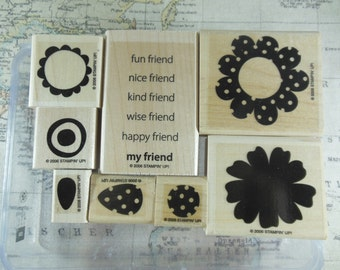 Polka Dot Posies Retired Stampin Up set