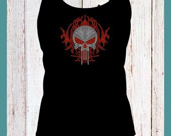 Skull Rhinestone Shirt, Tanks, Hoodies SM to 5X