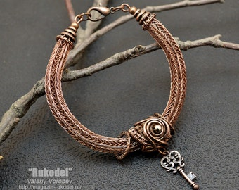 Wire Wrapped Bracelet (Viking Knit)