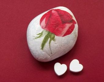 Pink perennial, stone PAPERWEIGHTS, gift sant jordi