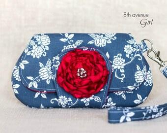 Wristlet clutch, Pocket clutch, Small purse, Smartphone wallet ***Ready-to-Ship***