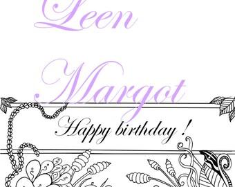 happy birthday card ( to fold)