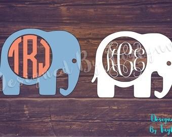 Elephant Monogram, Elephant Decal, Vinyl Decal, Monograms, Monogram, Yeti Decal, Car, Decal, Bridesmaid Gifts, Vinyl, Monogram Decals