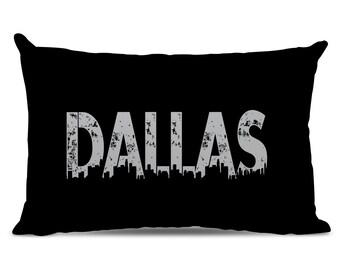 Dallas Pillow - Dallas Skyline Pillow - City Pillow - Urban Throw Pillow - Dallas Gift - City of Dallas