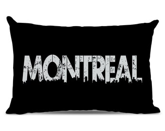 Montreal Pillow - Montreal Skyline Pillow - City Pillow - Urban Throw Pillow - Montreal Gift - City of Montreal