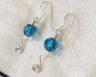 Swarovski crystal earrings | boucle d'oreille cristal Swarovski