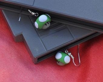 1Up! Mario Earrings (Small)