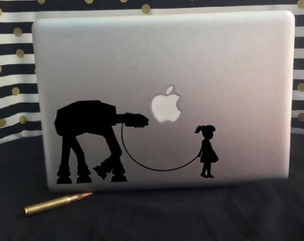 Girl with her AT-AT decal