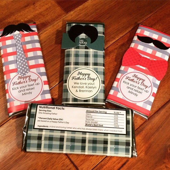 Father's Day Candy Bar Wrapper DIY By MamasSpareTimeDesign