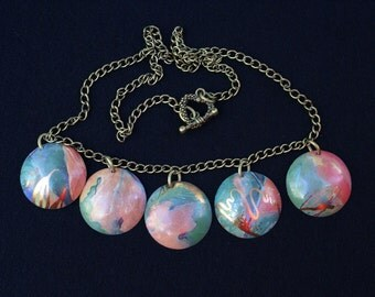 Multi Colored tin necklace