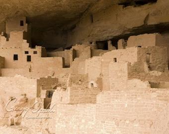 National Parks Photography, Mesa Verde Photograph, Cliff Palace, Colorado