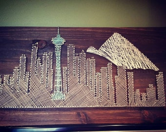 Seattle Skyline String Art/City Skyline String Art