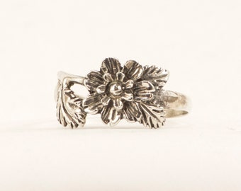 Handmade Sterling Silver Flower Ring