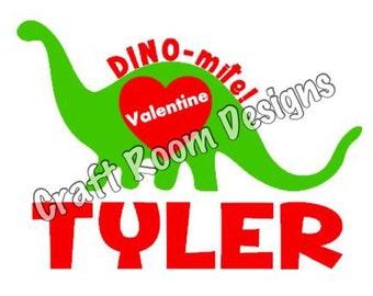 DINO-mite Valentine SVG